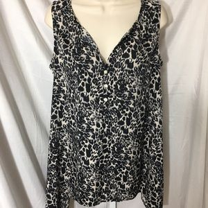 #348– 14th & Union animal print blouse, size S